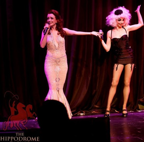 Laurie Hagen with Polly Rae in Between the Sheets. ©Soho Burlesque Club
