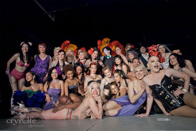 The cast of the Show Me Burlesque Festival 2013.  ©Crystal Rolfe