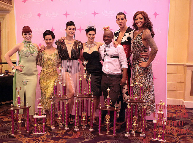 The Burlesque Hall of Fame 2013 Tournament of Tease title-holders.  ©Don Spiro