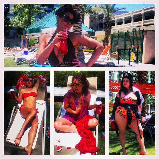 Poolside Realness.  ©Lola Frost (Burlesque Hall of Fame Weekend 2013)