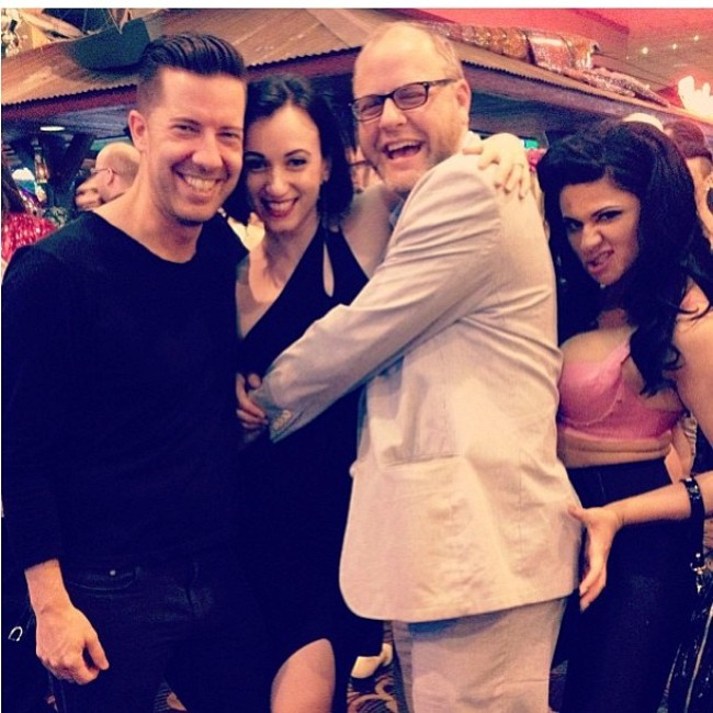 'Mr D'Lite' D'Arcy Bresson, Michelle L'amour, Franky Vivid and Roxi DLite.  ©Roxi DLite