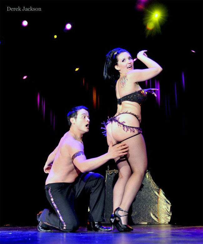 Bazuka Joe and Kami Oh! competing for Best Duo at the Burlesque Hall of Fame Weekend 2013. ©Derek Jackson (Stage Door Johnnies Post-BHoF Recap)