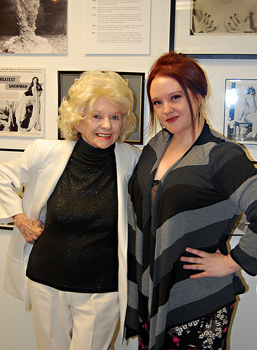Dixie Evans and Holli-Mae Johnson, Editor-in-Chief of 21st Century Burlesque Magazine.