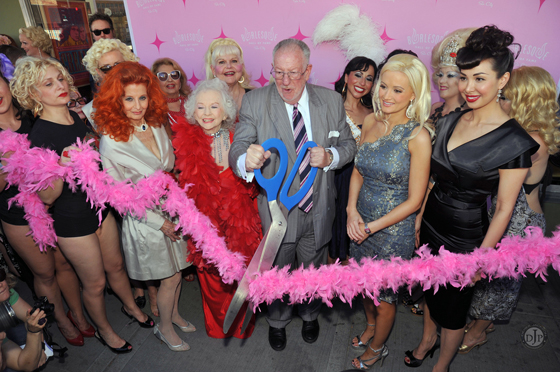 Dixie Evans at the Grand Opening of the Burlesque Hall of Fame Museum's new space in downtown Las Vegas in 2010. ©Derek Jackson