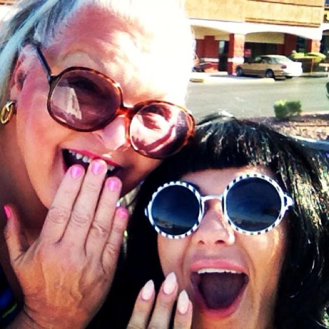 Nail Day: Big Fannie Annie and Roxi DLite.  ©Roxi DLite