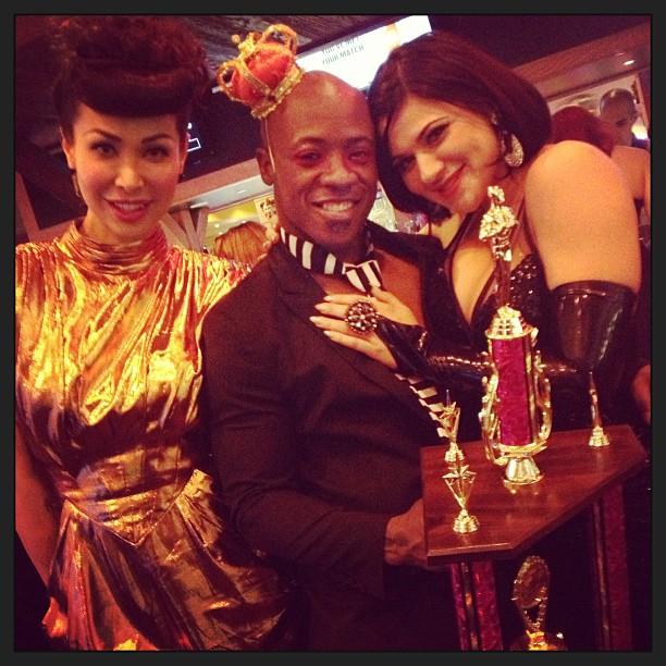Miss Exotic World 2009, Kalani KokMiss Exotic World 2009, Kalani Kokonuts, and Roxi DLite with 'Best Boylesque' 2013 winner, Ray Gunn.  ©Roxi DLiteonuts, and Roxi DLite with 'Best Boylesque' 2013 winner, Ray Gunn.  ©Roxi D'Lite