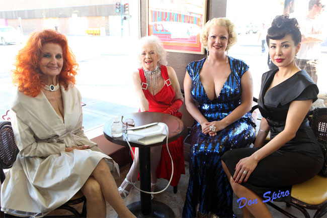 Tempest Storm, Dixie Evans, World Famous BOB, and Miss Exotic World 2009, Kalani Kokonuts.