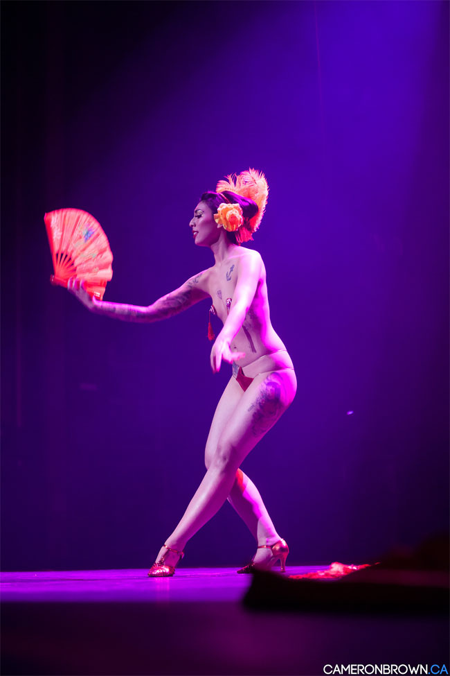 Miyuki Divine at the Vancouver International Burlesque Festival. ©Cameron Brown