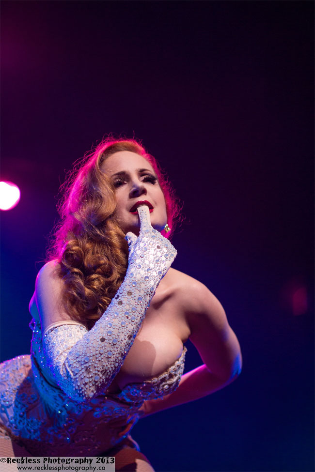 Catherine D'Lish at the Vancouver International Burlesque Festival 2013. ©Reckless Photography