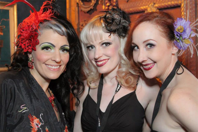 Cha Cha Velour, Goldie Candela and Ruby Joule at the Colorado Burlesque Festival 2013.  ©Goldie Candela