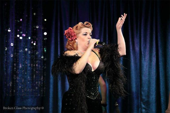 Cora Vette performing at the Colorado Burlesque Festival 2013.  ©Broken Glass Photography