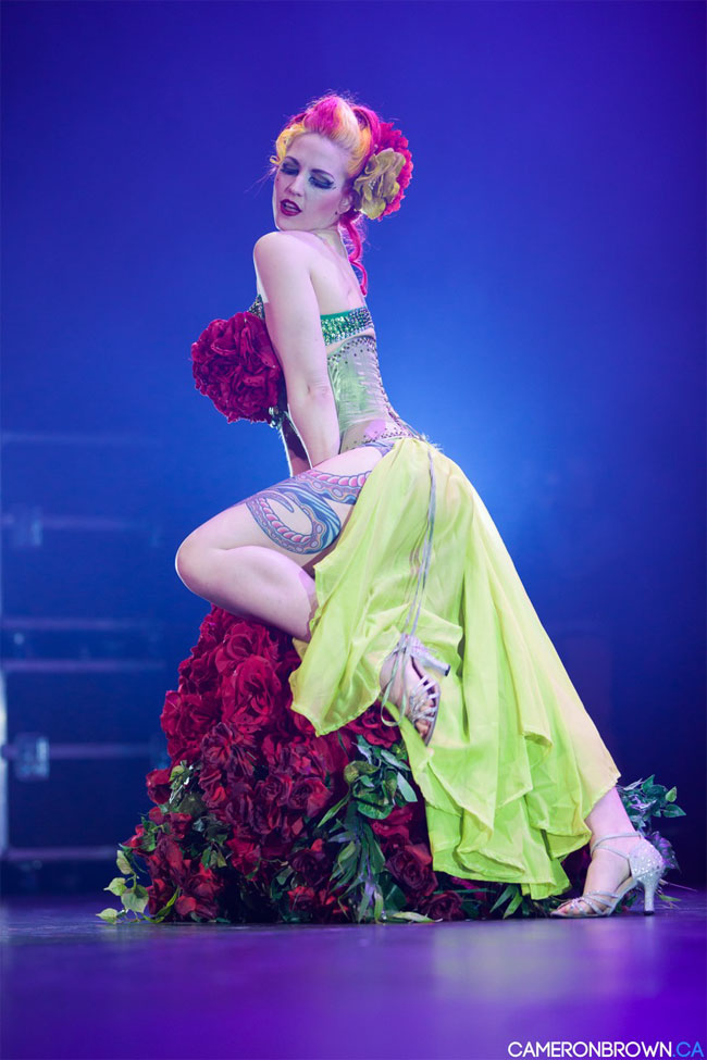 Melody Mangler at the Vancouver International Burlesque Festival 2013. ©Cameron Brown