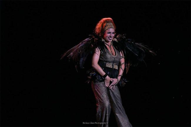 Ophelia Flame performing at the Colorado Burlesque Festival 2013.  ©Broken Glass Photography