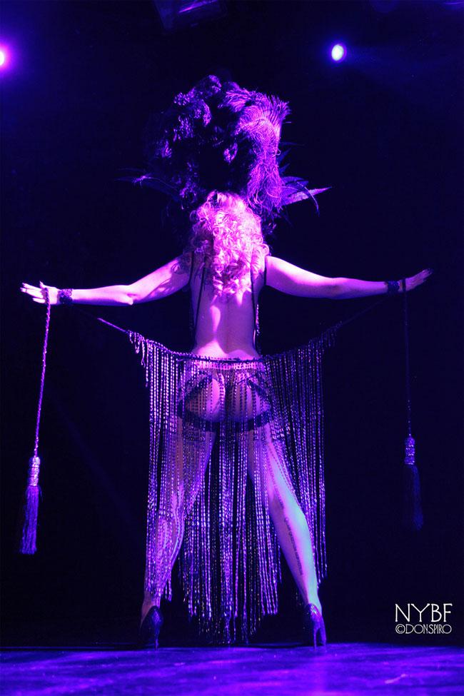 Dangrrr Doll at the New York Burlesque Festival Thursday Night Teaser Party. ©Don Spiro