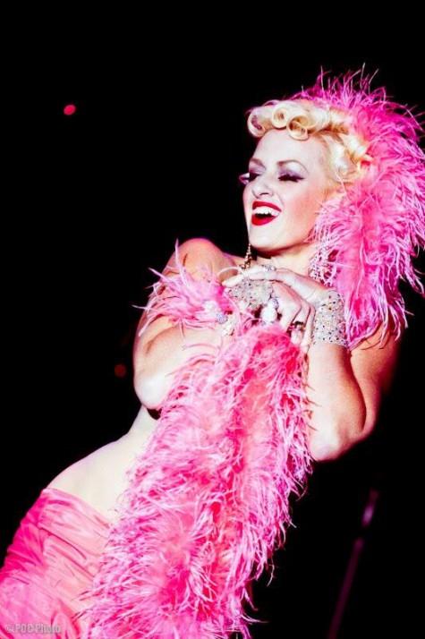 Kitten De Ville On Stage.  ©POC Photo  (Burlesque Beauty)