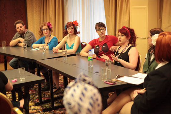 A discussion panel at BurlyCon 2012.  ©Don Spiro