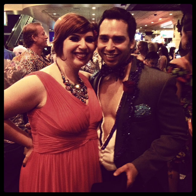 Frenchie Kiss and Jett Adore at The Burlesque Hall of Fame Weekend.  ©Frenchie Kiss