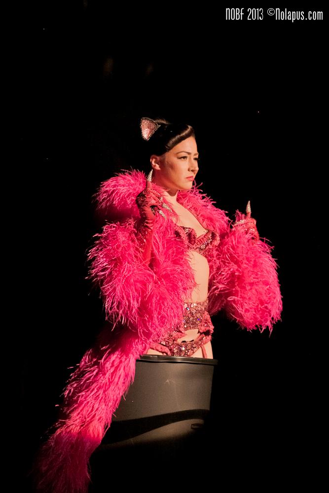 Kitty Bang Bang at The New Orleans Burlesque Festival 2013.  ©Andreas Koch