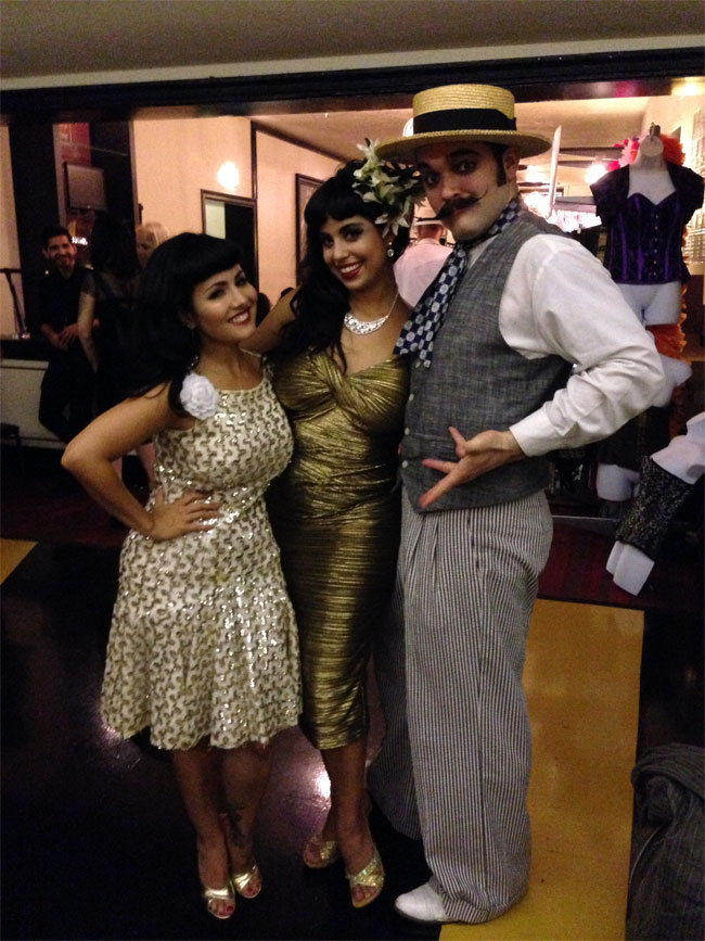 Ruby Champagne, Coco Lectric and Russell Bruner at the San Antonio Burlesque Festival.  ©Russell Bruner