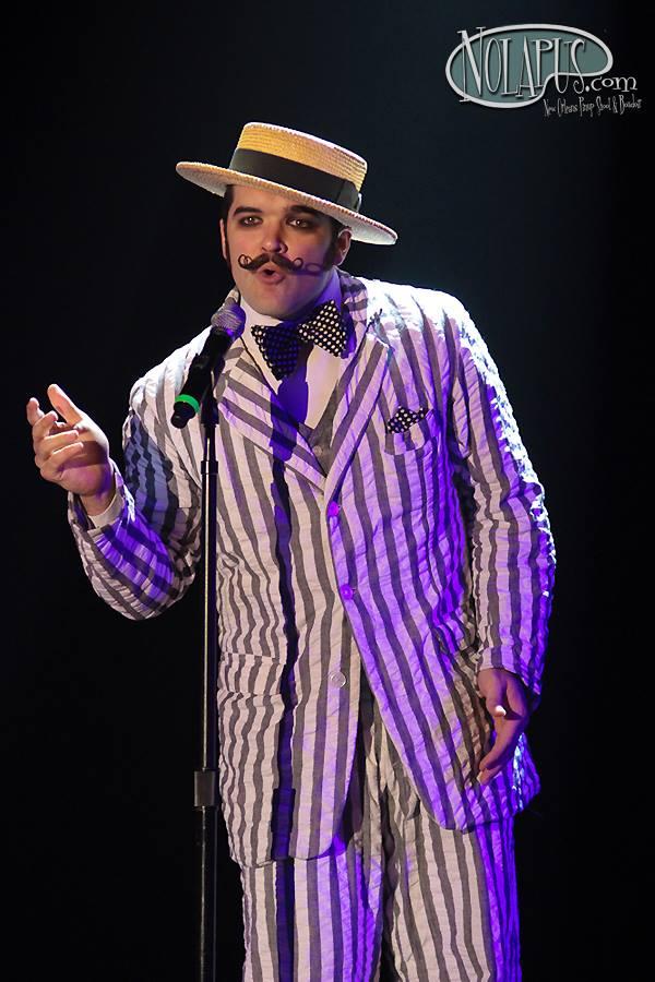 Russell Bruner at The New Orleans Burlesque Festival 2013.  ©Russell Bruner