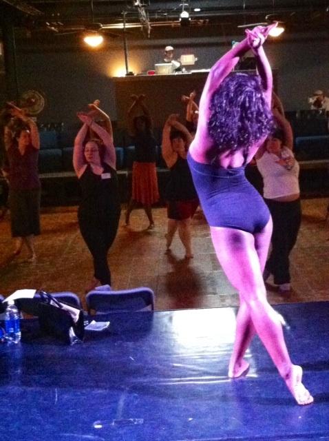 Perle Noire's class   ©Ruby Joule  (Alabama Burlesque Festival Diary)