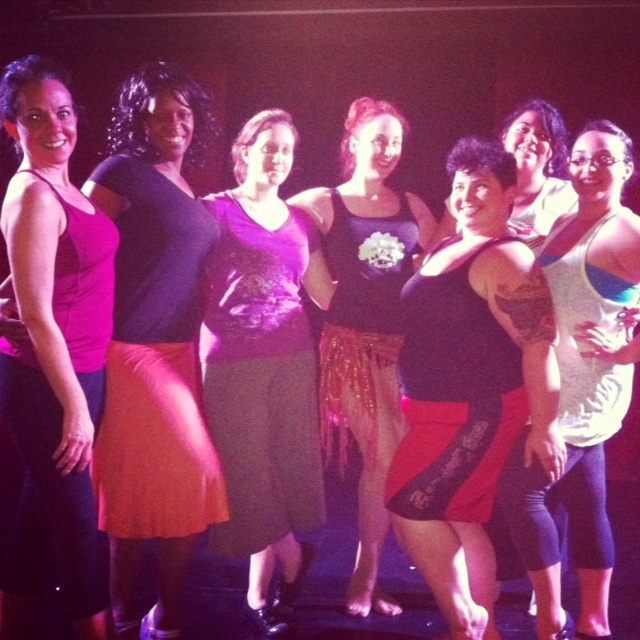 Ruby Joule with her class members.   ©Ruby Joule  (Alabama Burlesque Festival Diary)