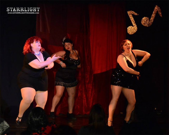 The Follies Girls at the Alabama Burlesque Festival Diary.  ©StarrLight Images.