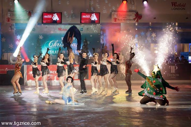 Burlesque On Ice in a special performance in Westfield Shopping Centre last year.  ©Tigz Rice