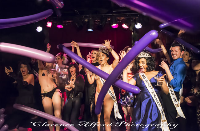 The closing party at the Hollywood Burlesque Festival.  ©Clarence Alford Photography