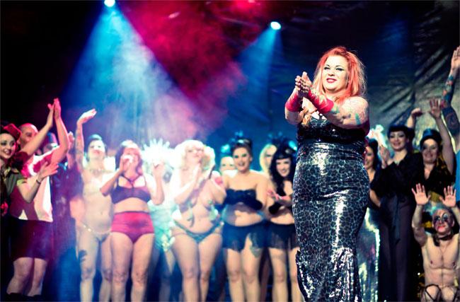 Bettie Blackheart and the cast of the Helsinki Burlesque Festival 2013.  ©Kaylin Idora