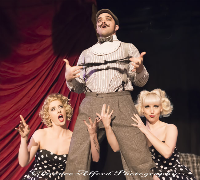 Russell Bruner and Swingtime PDX at the Hollywood Burlesque Festival.  ©Clarence Alford Photography
