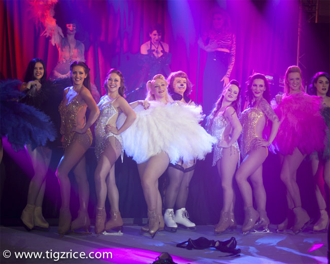 The cast of Burlesque On Ice.  ©Tigz Rice (Review: Burlesque on Ice)