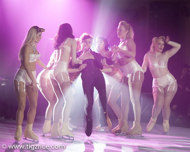 Joe Morose and the cast of Burlesque on Ice.  ©Tigz Rice (Review: Burlesque On Ice)