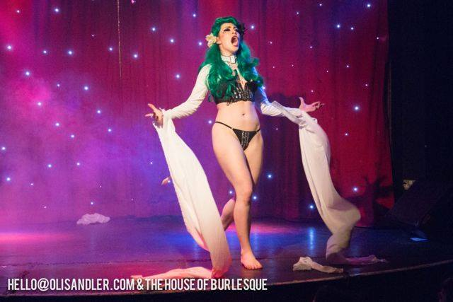 Lolo Brow performing in House of Burlesque at Madame Jojo's in London. (Lolo Brow's Guide to Deranged Disrobing)