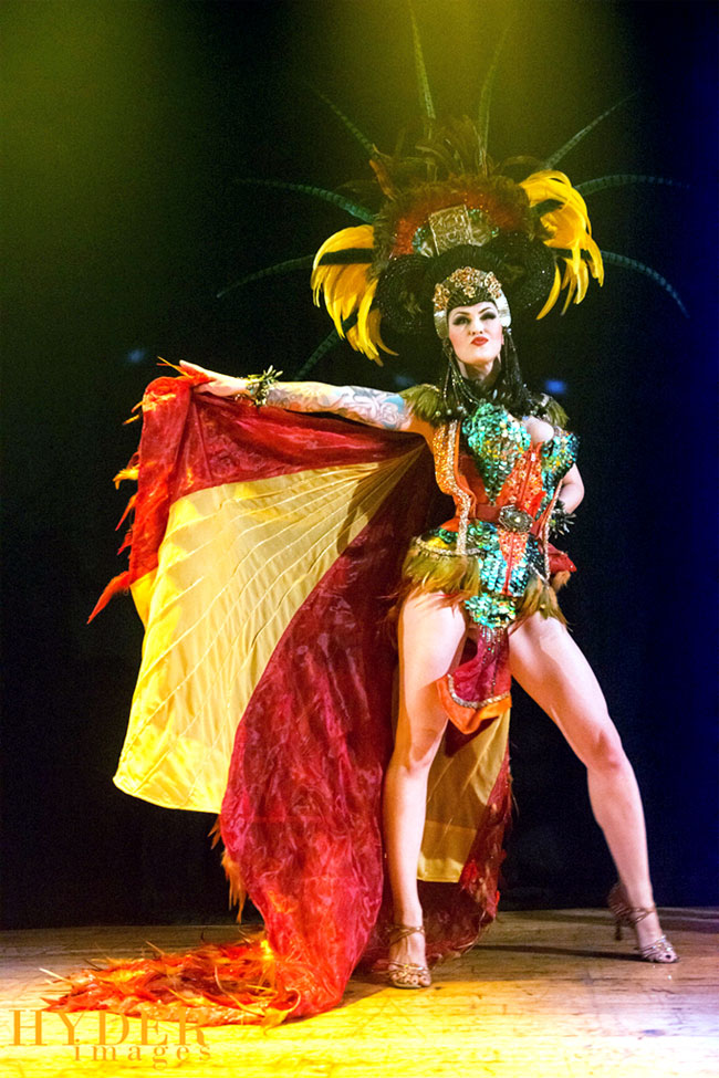 LouLou D'vil rocking it onstage.  ©Hyder Images