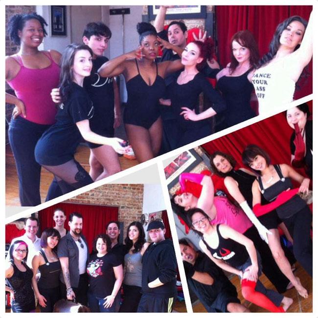 Classes at the Dallas Burlesque Festival 2014.  ©