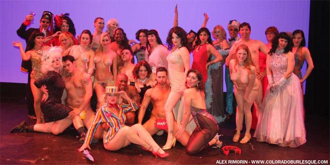 The cast of the Southwest Burlesque Showcase. ©Alex Rimorin
