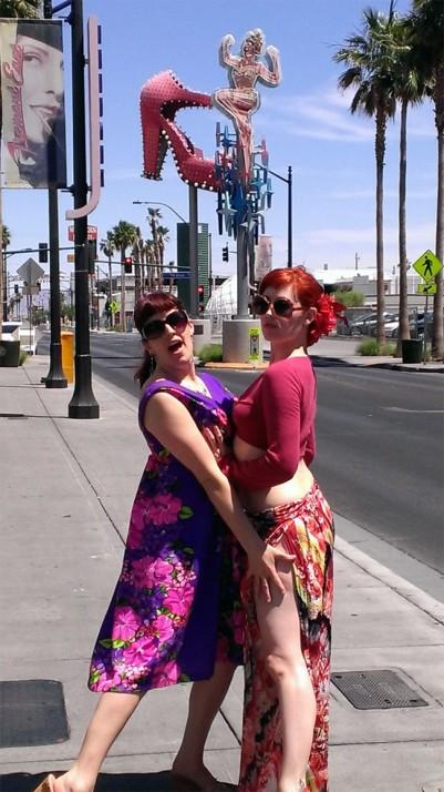 Elsa Von Schmaltz and Randi Rascal in Las Vegas. ©