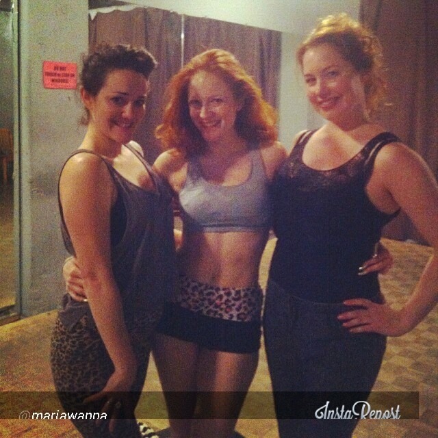 Gal Friday with some students at the Great Canadian Girlesque Expo 2014.  ©