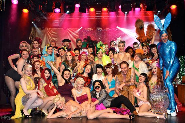 The cast of the Helsinki Burlesque Festival 2014.  ©Neil Kendall