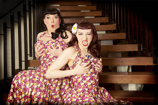 Heidi Bang Tidy and Lady Wildflower, producers of the Hebden Bridge Burlesque Festival.   ©James Lynch