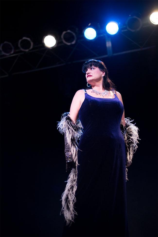 Lili VonSchtupp at the Vermont Burlesque Festival 2014.   ©Michael Z Rork, Zinfandel Photography