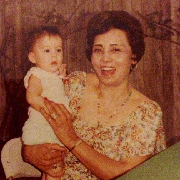 Ginger Valentine with her Grandma Trini in 1980.