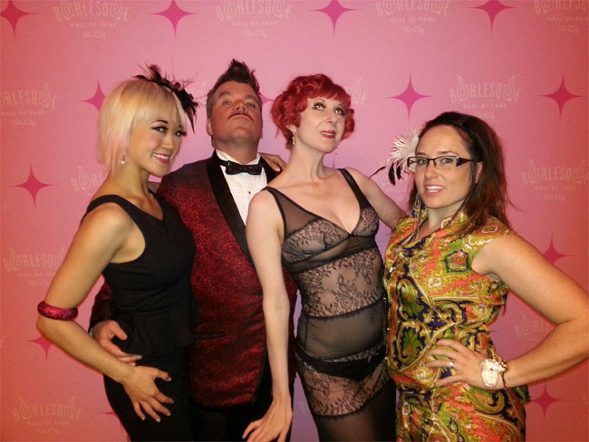 Midnite Martini and her Colorado Burlesque Festival team members at the Burlesque Hall of Fame Weekend 2013.  ©CP