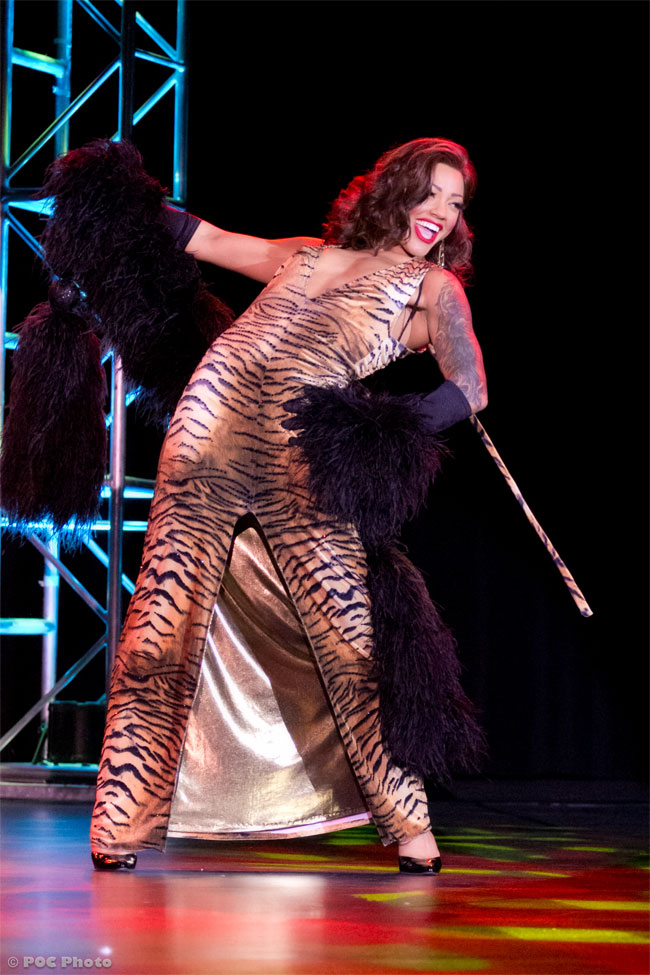 "Sydni Deveraux: ""Performing one of my favourite acts, 'Tiger' at VLV 2012.""  ©POC Photo"