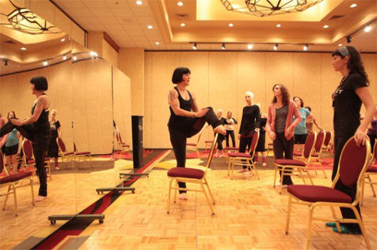 Lola Frost teaching at BurlyCon in Seattle.  ©Don Spiro