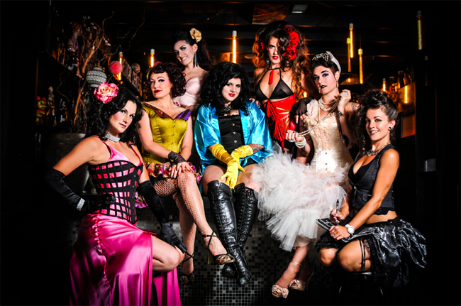 Lola Frost and the other members of Sweet Soul Burlesque. ©Shimona Henry