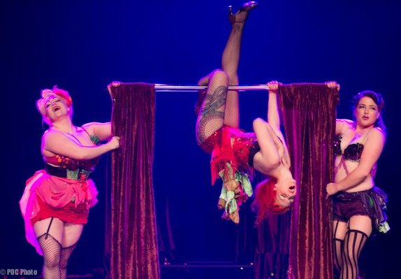 Melody Mangler competing for Best Group at the Burlesque Hall of Fame Weekend.  ©POC Photo