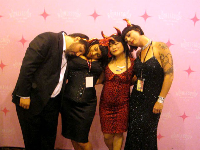 BHoF Executive Producer Joyce Tang with some sleepy BHoF Weekender team members.