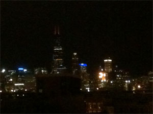 The Chicago skyline.  ©Miss Vampfire